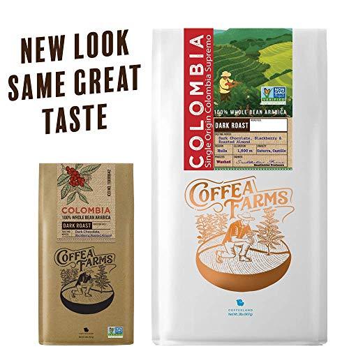 Photo of 32 oz (2 LB) Dark Roast Colombian Whole Bean Coffee – Coffea Farms – Best Chili Recipe