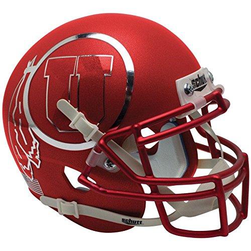 Utah Utes Satin Red Chrome Decal Officially Licensed Full Size XP Replica Football - Satin Utes Utah