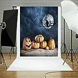 TAOtTAO Halloween Backdrops Pumpkin Vinyl 5x3FT Lantern Background Photography Studio (K)