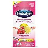Pedialyte Electrolyte Powder, Electrolyte Drink, Strawberry Lemonade, Powder Sticks, .6 oz, 6 Count