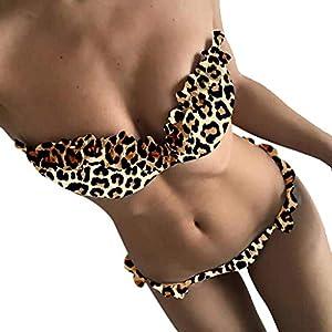 2PCS Sexy Bikini Donna Mare Push up, Viola Senza Spalline Fiore-Applique Costume da Bagno Donna Intero Piscina Sportivo tezenis Costumi da Bagno Mare Swimsuit Swimwear 11 spesavip