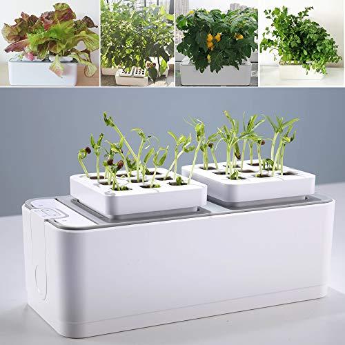 E SUPEREGROW Smart Indoor Herb Garden Hydroponics Growing System self-Watering Planter for Herbs/Vegetable/Flower Home Office Smart Indoor Garden Kit