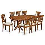 East West Furniture PLAI9-SBR-C 9 PC Dining Room Set-Dining Table and 8 Chairs for Dining Room Review