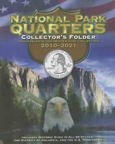 National Park Quarters Collector's Folder 2010-2021: Philadelphia and Denver Mint Collection