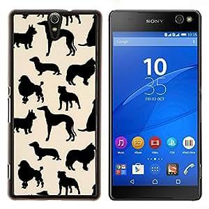 Dragon Case - FOR Sony Xperia C5 Ultra - dog species pattern black beige - Caja protectora de pl??stico duro de la cubierta Dise?¡Ào Slim Fit