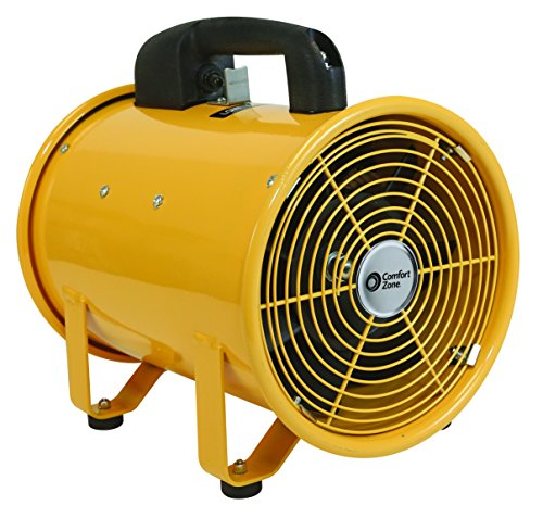 Comfort Zone 8 Inch High Velocity Utility Blower Fan