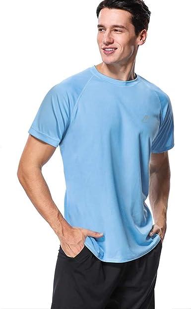 MeetHoo Rash Guard Hombre Camisa Manga Corta Camiseta UV Camisetas Deporte Técnicas Deportiva T-Shirt de Protección Solar UV (UPF) 50+ Poliéster para fútbol Atletismo Correr o Montañismo: Amazon.es: Ropa y accesorios