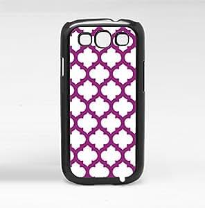 Purple Print Hard Snap on Phone Case (Galaxy s3 III)