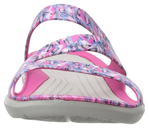 Crocs Womens Swiftwater Sandalo Grafico Rosa Caramella