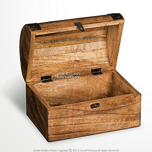 Medieval Gears Brand Medieval Style Wooden Treasure Chest...