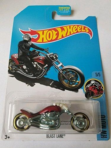 Lane Blast - Hot Wheels 2017 HW Moto Blast Lane (Motorcycle), Red (Treasure Hunt)