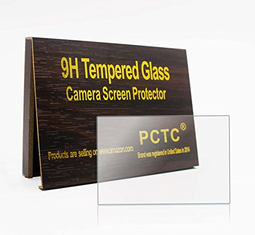 PCTC Tempered Glass Screen Protector for Camera Canon EOS 800D Reble T7i Optical 9H Flim Foils Anti-Scrach High Transparency Crystal-Clear [3 Pack]