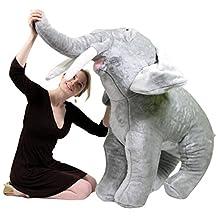 American Made Giant Stuffed Elephant 48 Inches Huge Soft Stuffed Animal Jungle Plush Made in USA