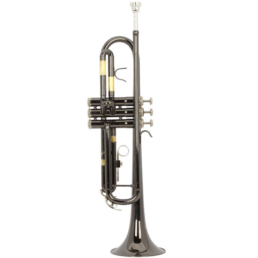 Olymstore (TM) negro chapado en níquel BB Trompeta con carcasa rígida y boquilla, color negro: Amazon.es: Instrumentos musicales
