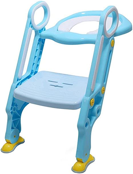 Vogvigo Asiento de inodoro para bebé con escalera ajustable Asiento plegable Orinal portátil Asiento de entrenamiento para baño Orinal infantil Asiento plegable Potties: Amazon.es: Bebé