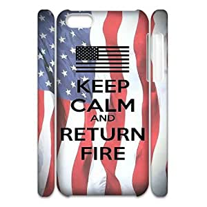 FLYBAI Keep Calm And Return Fire Phone 3D Case For Iphone 5C [Pattern-6]