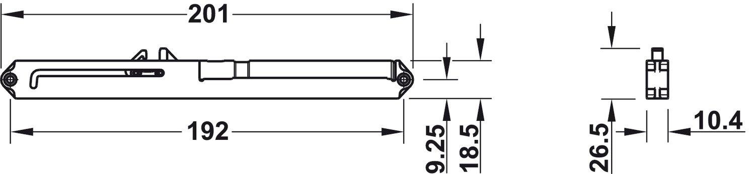 Syst/ème damortissement pour rails de tiroir 50 kg Syst/ème damortissement pouvant /être mis /à niveau pour d/écharge partielle de meubles de GedoTec/® Capacit/é de charge maximale