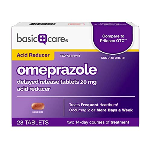 Basic Care Omeprazole Delayed Release Tablets 20 Mg, 28 Count