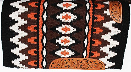 - PRORIDER 34x36 Horse Wool Western Show Trail Saddle Blanket Rodeo Pad Rug Brown 36317C