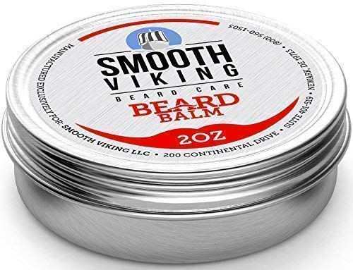 Beard Balm with Leave-in Conditioner – Styles, Strengthen & Thickens for Healthier Beard Growth by Smooth Viking Beard Care