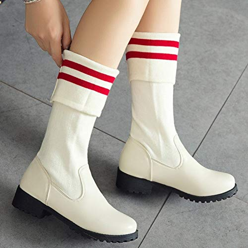 Boots Slouch Round Carol White Toe Casual Women's Shoes xYwq4Y