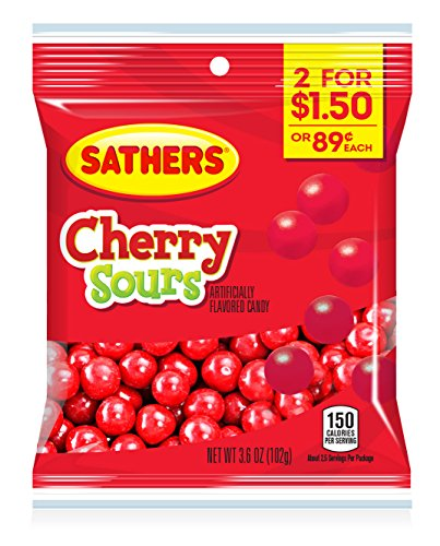 Farley's & Sathers Candy, Cherry Sours, 3.6 Ounce, Pack of ()