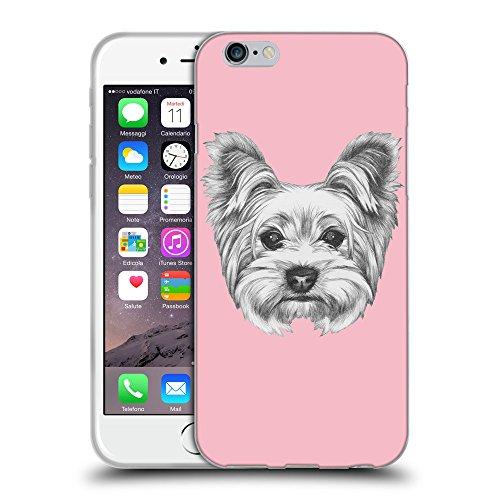 "GoGoMobile Coque de Protection TPU Silicone Case pour // Q05120630 Chien dessin Rose // Apple iPhone 6 4.7"""