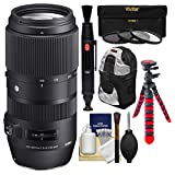 Sigma 100-400mm f/5.0-6.3 Contemporary DG OS HSM Zoom Lens with 3 Filters + Backpack + Tripod + Kit for Nikon Digital SLR Cameras