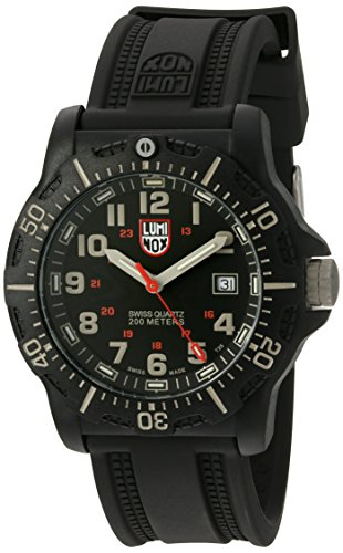 Luminox Men's 'Ops Carbon' Swiss Quartz Resin and Rubber Automatic Watch, Color:Black (Model: 8813.LM)