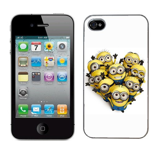 Moi moche et méchant Despicable me film minion cas adapte iphone 4 et 4s couverture coque rigide de protection (3) case pour la apple i phone