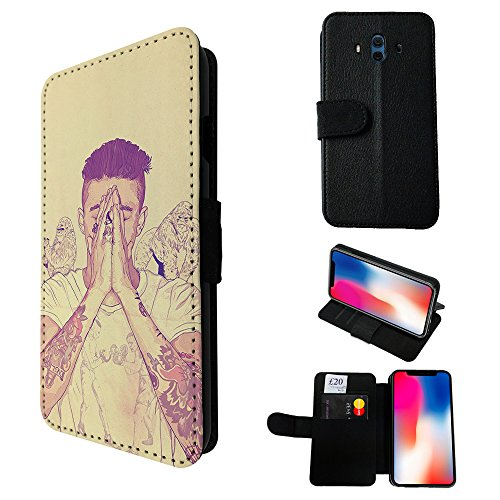 002946 - Sexy Man Boy Tattoos Arms Praying Model Gorillas Justin Design Huawei Mate 10 Credit Card Flip Case Purse pouch Stand - Justin Model Male