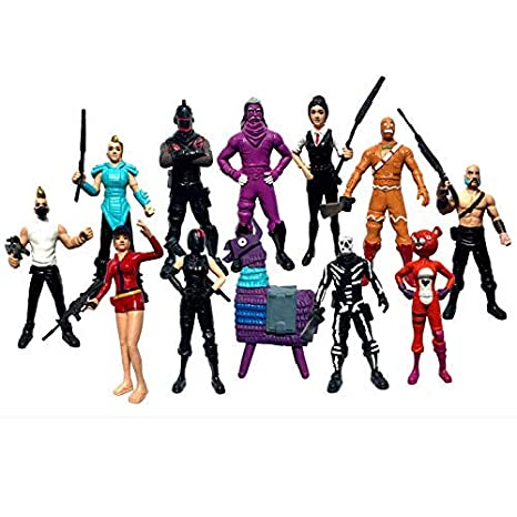 Ginkago Fortnite Action Figures Cartoon Toys Anime Collection Decoration Children Gift (12PC)