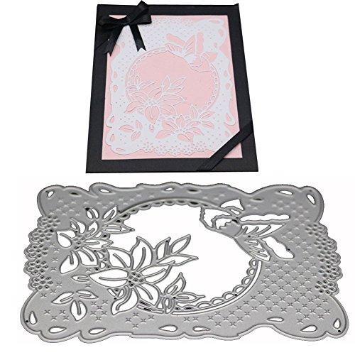 (Ocamo Plant Frame Carbon Steel Cutting Dies Knife Mold Stencils DIY Scrapbooking Die Cuts Decor Crafts Embossing Templates Art Cutter)