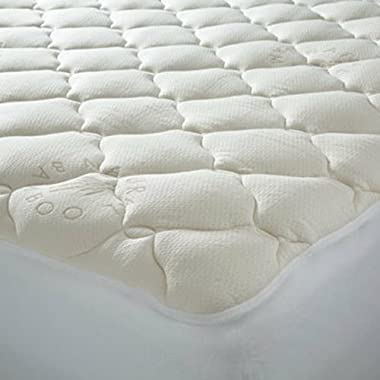 ExceptionalSheets  Extra Plush Queen Twin XL Cooling Mattress Topper with Fitted Skirt