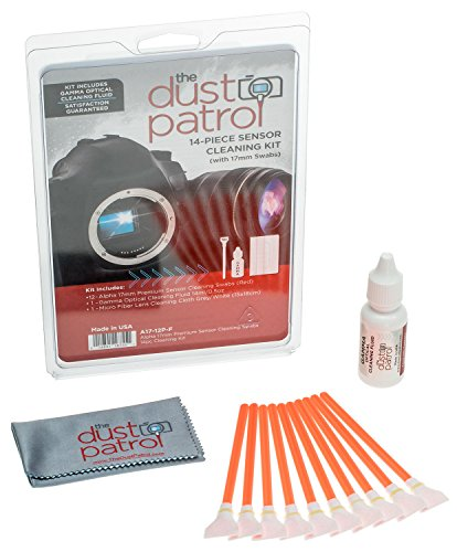 Alpha 17mm Sensor Cleaning Swabs (12pk) (Red) w/Gamma by The Dust Patrol