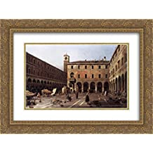 Canaletto 2x Matted 24x18 Gold Ornate Framed Art Print 'The Campo di Rialto'