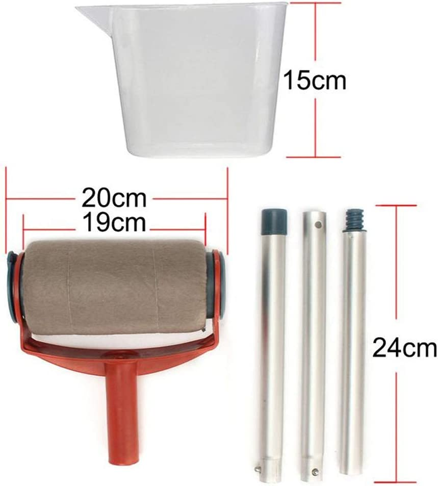 Multifonctionnel Outils de Peinture de Maison Paint Roller pour Peinture sur Mur//Plafond//Porte WSERE 6 Pcs Kit de Rouleau de Peinture avec Poign/ée et R/éservoir Professionnel D/écor Jardin//Maisn