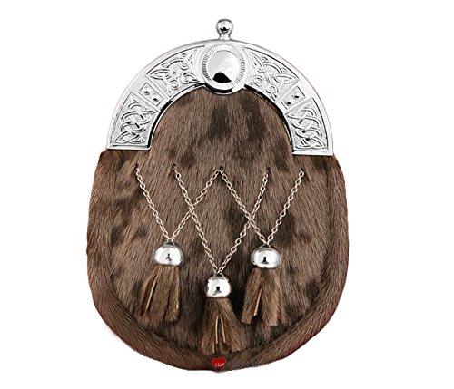 Dress Sporran Celtic Arc Troussequin pendentif glands Brown