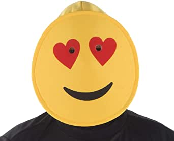 Dress Up America Smiling Hearts Emoji Mask For Adults Accesorios ...