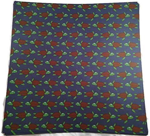 Turtles on Navy 12x12 Scrapbook Paper 4 Sheets