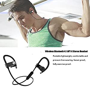 Wireless Headphones,Facelink Sweatproof Magnetic In-Ear Sport Earbuds with 8 Hour Playtime,Bluetooth Headset for Running,Workout and Gym
