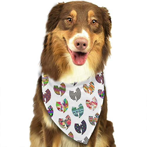 OURFASHION WuTang Bandana Triangle Bibs Scarfs Accessories Pet Cats Puppies.Size is About 27.6x11.8 Inches (70x30cm). ()