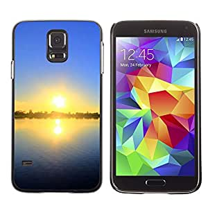 "For Samsung Galaxy S5 , S-type Sunset Beautiful Nature 55"" - Arte & diseño plástico duro Fundas Cover Cubre Hard Case Cover"