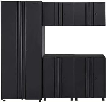 5-Piece Husky Welded 78 W x 75 H x 19 Inch D Steel Garage Cabinet Set