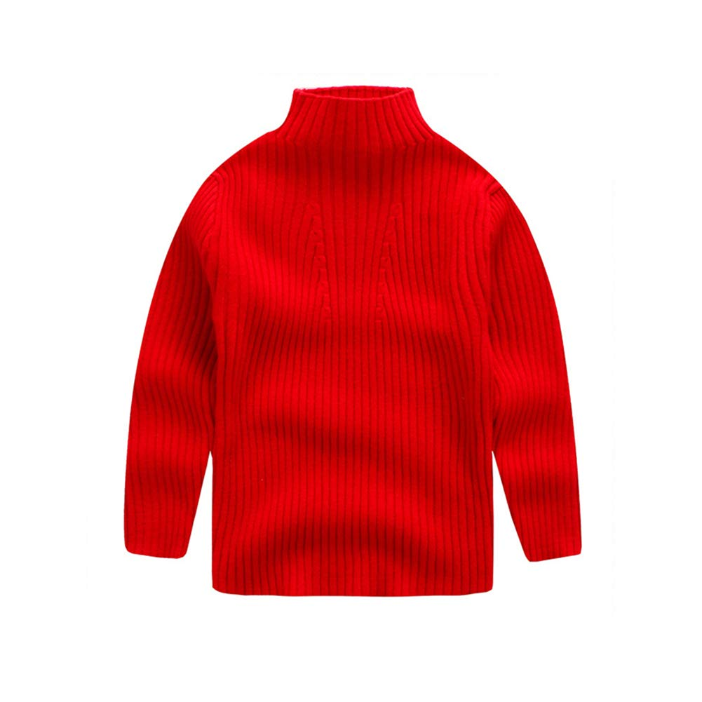 KIMJUN Baby Girl Boy Pullover Sweater Toddler Kids Solid Cable Knit Sweatshirt Top 2-9T