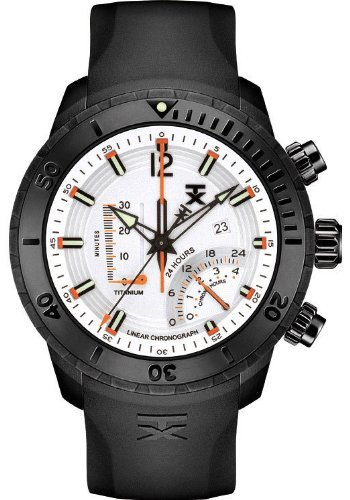 TX Men's T3C313 800 Series Linear Titanium Chronograph Dual-Time Zone Watch