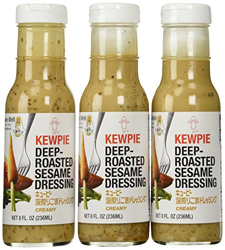 Kewpie Japanese Dressing Roasted Sesame 8 Oz. Deep Roasted Sesame Dressing, Creamy (Pack of 3) (Best Asian Salad Dressing)