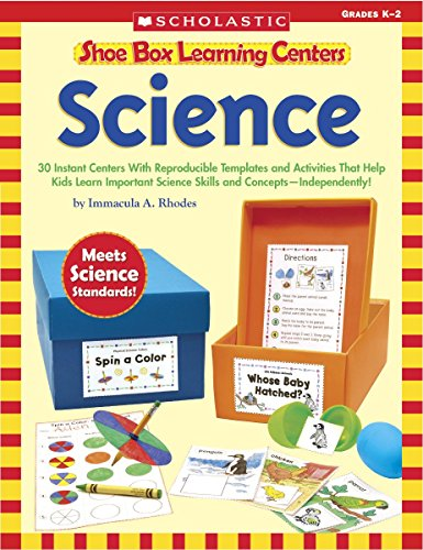 Scholastic 80 Pages Science Shoe Box Learning Centers Book