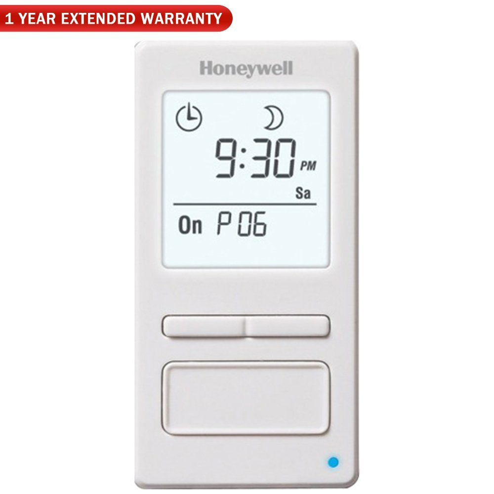 Honeywell (RPLS740B1008/U) 7-Day Solar Programmable Timer for Lights & Motors + 1 Year Extended Warranty