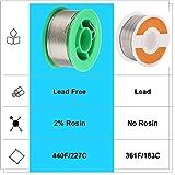 2 Pcs Solder Wire Lead Free Rosin2% Sn 99.3% Cu
